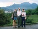 Цапов, Склизков и Корюкин на фоне гор
